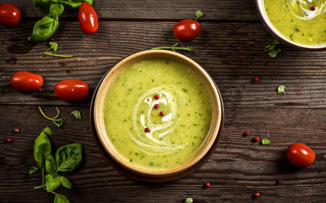 Basilikum-Kartoffel-Suppe