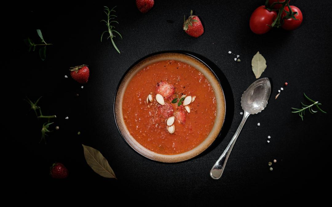 Erdbeer-Tomaten-Suppe