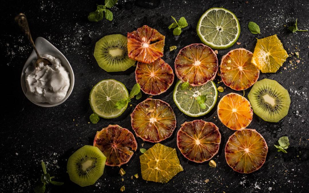Fruchtsalat mit Sahne