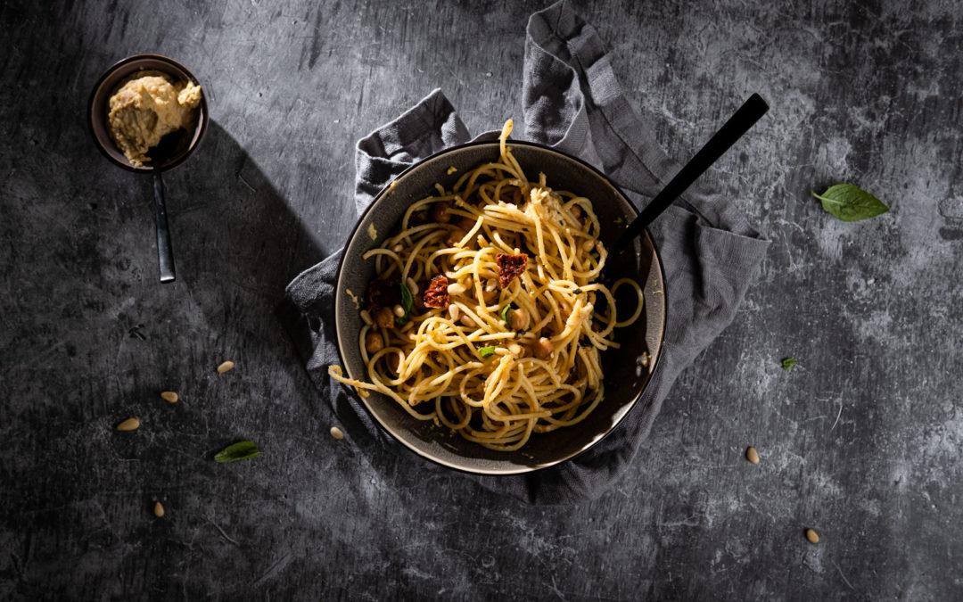 Hummus-Spaghetti