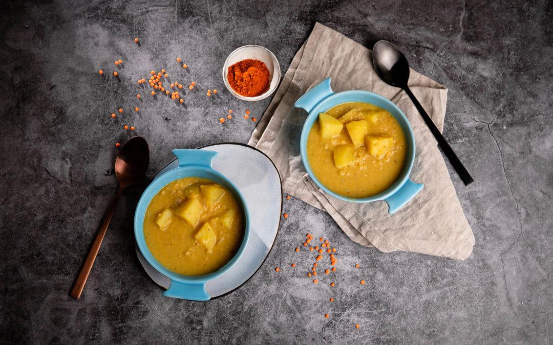 Cremiger Linsen-Kartoffel-Eintopf