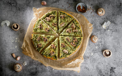 Spinat-Pizza